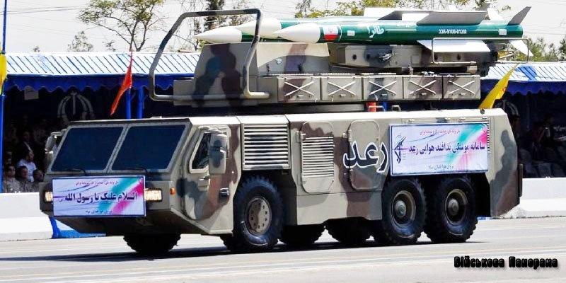 Озброєння Ірану — ЗРК СД «Ra'ad»