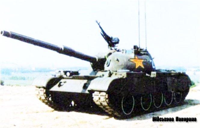 Китайські клони радянського танка Т-54 модернізувалися за допомогою Ізраїлю