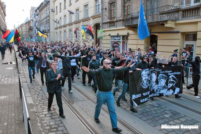 В деяких регіонах України маршували на честь створення дивізії «SS «Галичина»