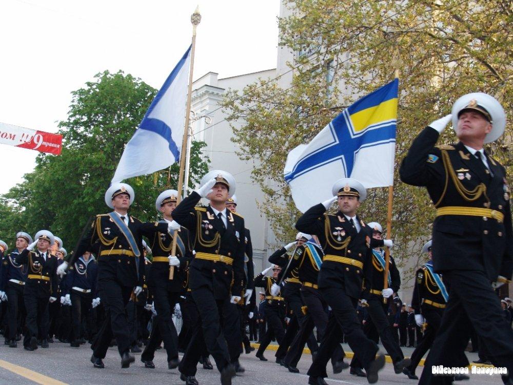У гарнізонах українських ВМС України проводяться урочисті заходи,присвячені 68-й річниці Дня Перемоги