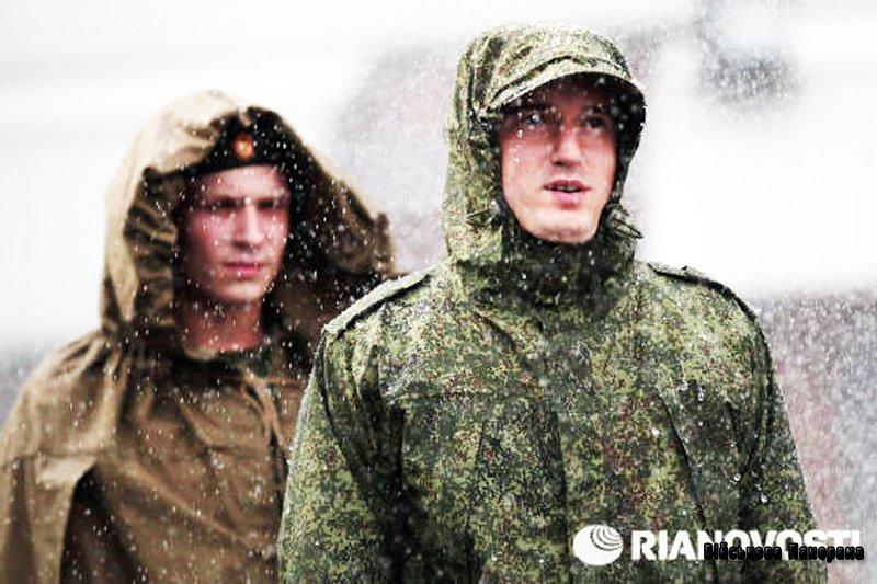 Нова форма для російської армії: випробування брандспойтом і смугою перешкод