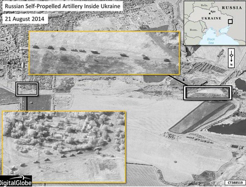 НАТО опублікувало знімки із зображенням ЗС Росії на території України