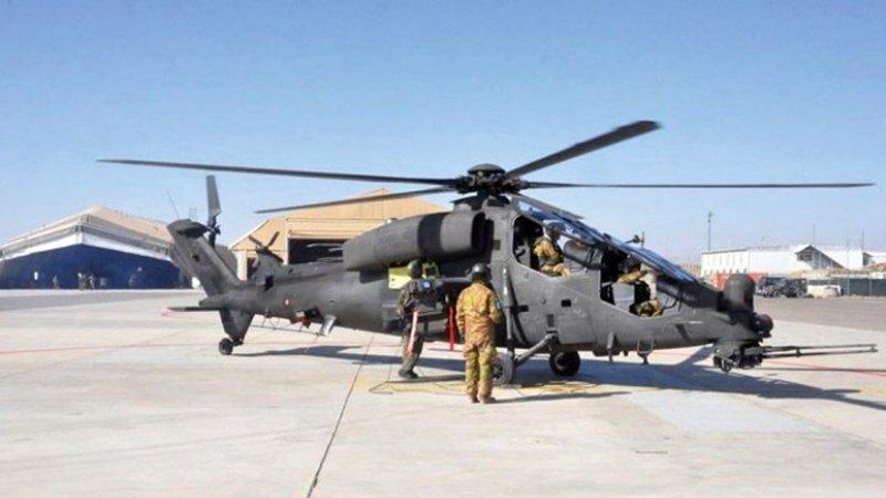 В Афганістані з'явилися новітні італійські бойові вертольоти А129D