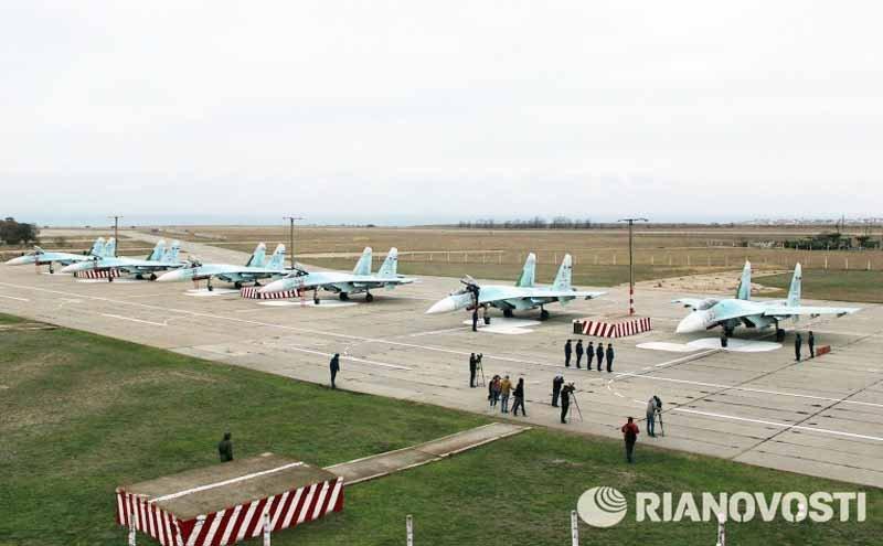 Авіаційний полк у Бельбеку отримав винищувачі Су-27СМ і Су-30м2