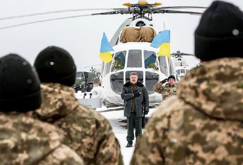 Українська армія отримали від президента Порошенка сертифікати на партію військової техніки, озброєнь і стрілецької зброї