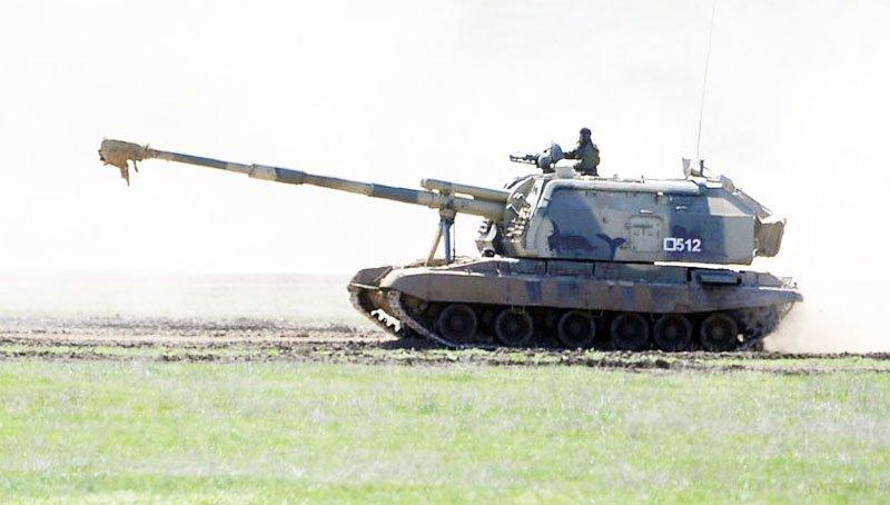 У Ростовській області вибухнула самохідна артилерійська установка
