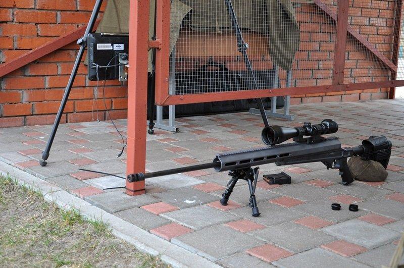 Демонстрація снайперської гвинтівки ВМ МП-УОС