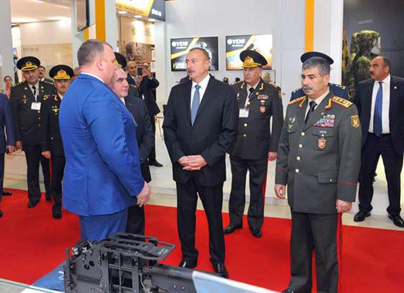 Президент Азербайджану Ільхам Алієв високо оцінив українську експозицію на ADEX-2016