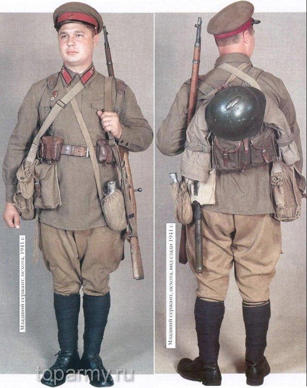 Екіпірування радянського солдата Другої світової