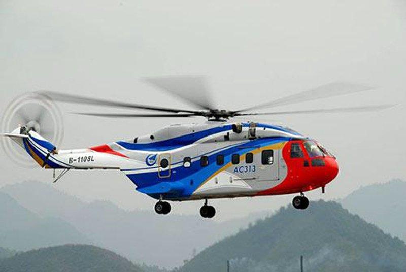 Китай завершив випробування свого першого важкого вертольоту